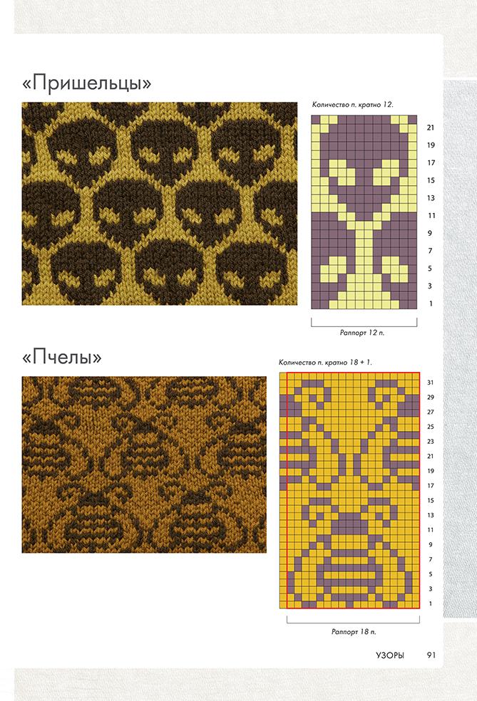 Библия двуцветных узоров. 200 жаккардовых мотивов для вязания спицами.