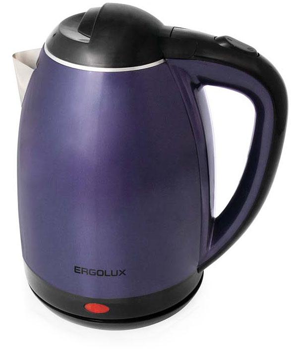 Ergolux ELX-KS02-C49 электрический чайник13123Ergolux ELX-KS02-C49 - электрический чайник из нержавеющей стали в пластиковой оболочке со скрытым нагревательным элементом. Двухслойный корпус позволяет быстрее вскипятить воду, дольше сохраняет тепло и предотвращает ожоги. Имеет поворачивающийся на 360° корпус, что удобно при эксплуатации. Чайник оснащен индикаторной лампочкой и функцией автоматического выключения при закипании и отсутствии жидкости. Крышка с фиксатором и кнопкой для открывания. Функция защиты от перегрева делает прибор абсолютно безопасным в быту.Медный кабель.Толщина стали 0,32 мм.