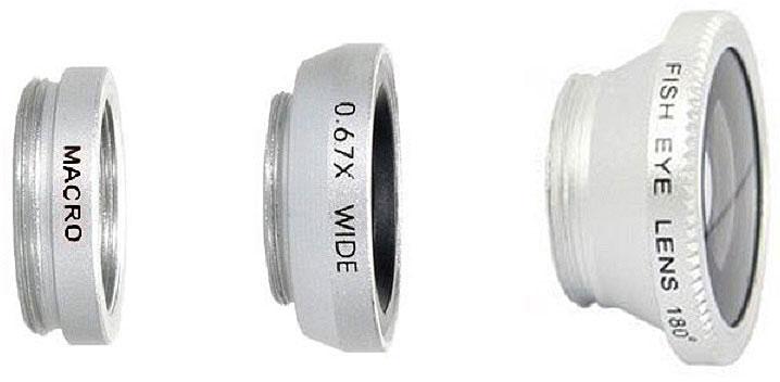 Fidget Go Макро, Silver объектив для смартфона