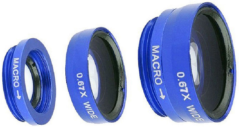 Fidget Go Макро, Blue объектив для смартфона6900000000118Объектив прищепка на любой телефон 3 в 1 комплект из трех линз Wide (Широкоугольная) + Macro (Макро) + Fish Eye (Рыбий глаз 180 градусов)На Ваш телефон, планшет или плеер линзы одеваются с помощью прищепки. Крепить можно как на переднюю, так и на заднюю камеру. Высокое качество съемки достигается за счет высококачественных линз. Ударопрочные, корпус сделан из прочного пластика.Линзы подходят для: IPhone 4/4s/5/5c/5s/6, IPad, IPod, Samsung, HTC, LG, Fly, Nokia и для многих других телефонов, плееров и планшетов, которые имеют толщину не более 13 мм.Линза Fisheye позволяет делать снимки с углом обзора 180°. создает эффект глазкаMacro линза увеличивает настолько сильно, что можно рассматривать объект до мельчайших деталей. Это самая используемая линза в этом комплекте.С помощью линзы Wide Angle (Широкоугольная) очень удобно снимать широкие объекты. Больше деталей попадут на снимокЛинзы можно одеть или Макро линзу или Макро + Широкая, отдельно широкая не крепитсяЛинзы создают особый эффект сьемки и украсят любое фото Instagramm.Материал - пластик, алюминий и оптическое стекло