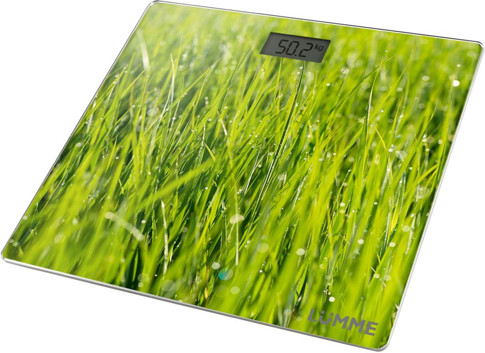 Lumme LU-1329, Green весы напольныеLU-1329Электронные напольные весы Lumme LU-1329 с платформой из прочного полированного стекла ижидкокристаллическим дисплеем с легко читаемыми цифрами.Весы обеспечивают взвешивание до 180 килограммов с точностью до 100 граммов и способны работать вразличных единицах измерения.Цифровой дисплей, индикаторы перегрузки и замены батареи, включение от прикосновения, а также функцияавтоматического обнуления и отключения подарят наибольший комфорт при использовании весов и надолгосохранят заряд батарейки.Весы LU-1329 - это красиво оформленный надежный и точный прибор. Он обязательно подарит вам удовольствиеот использования и отличное настроение!