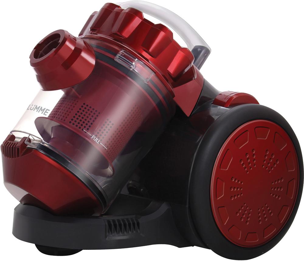Lumme LU-3209, Black Red пылесосLU-3209Компактный пылесос Lumme LU-3209 без мешка для сбора пыли оснащен высокоэффективной системой фильтрации Мультициклон, которая обеспечивает исключительную очистку воздуха без потери мощности всасывания. Удобный 2-литровый пластиковый контейнер вместо мешка для сбора пыли экономит время и средства при эксплуатации пылесоса, делая его очень простым в обслуживании. Возможность включения и выключения ногой, большая ручка для переноски, система автосматывания шнура длиной 3,2 м и защита шланга от перегиба обеспечивают легкость и удобство в работе.Сборная пластиковая труба и комплект насадок для деликатной чистки и мягкой мебели, пола и ковров позволят без особого труда полностью очистить любое помещение от пыли и мелкого мусора.