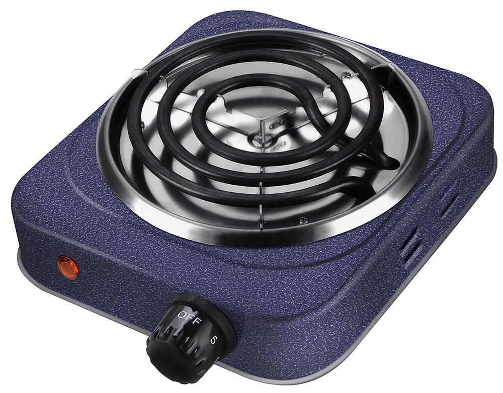 Lumme LU-3609, Dark Topaz электроплиткаLU-36091 конфорка d=13см, корпус-сталь, 3 режима нагрева, спиральный нагревательный элемент - сталь, индикатор нагрева, мощность - 1000W