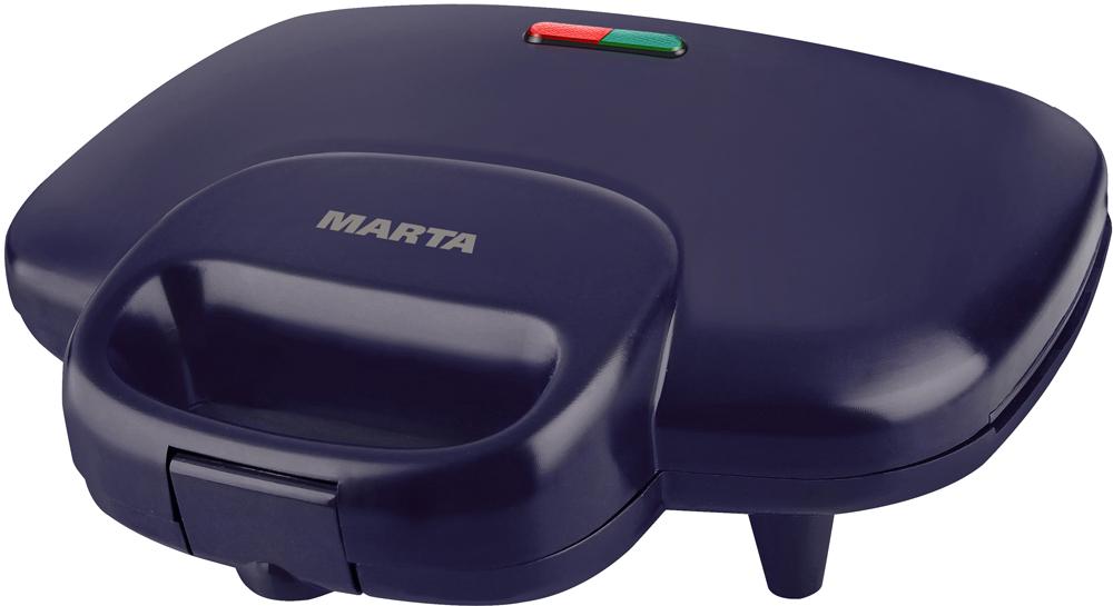 Marta MT-1754, Dark Topaz бутербродницаMT-1754750W корпус пластик, антипригарное покрытие, защита от переегрева, индикаторы работы/нагрева, фиксатор ручек, вертикальное хранение.