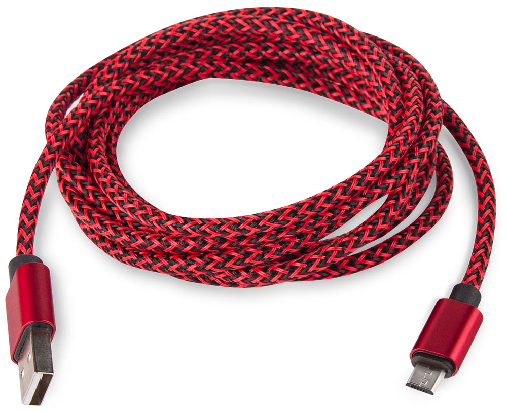 Rombica Digital AB-04, Red кабель USB - micro USB (2 м)CB-AB04R