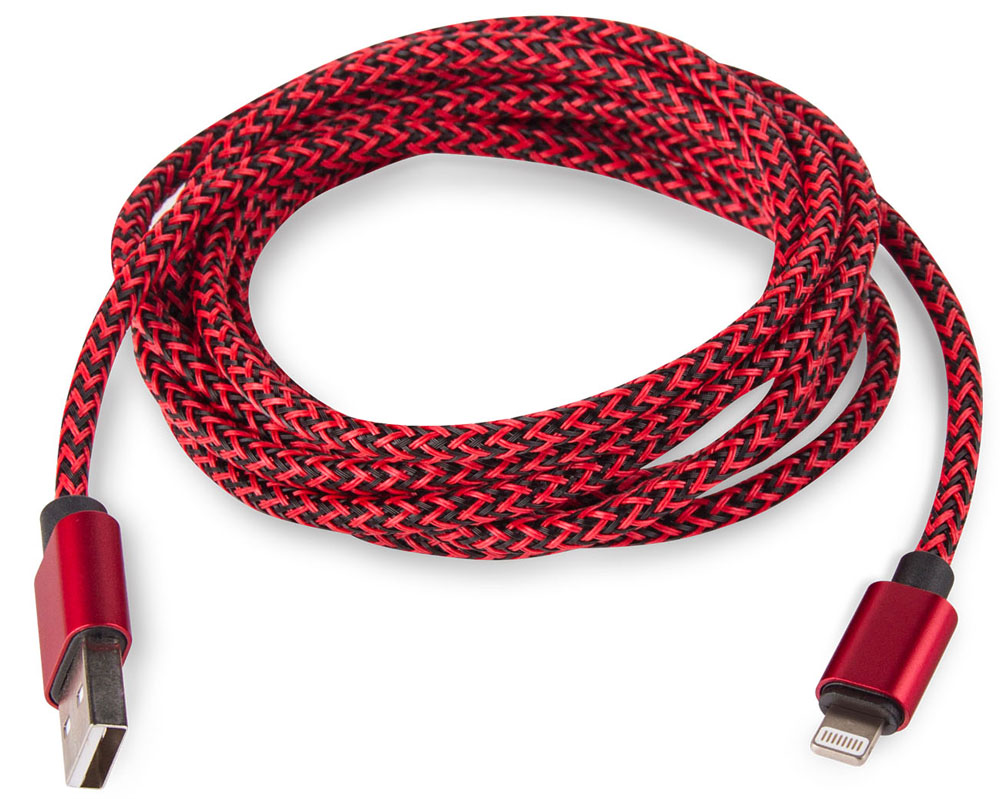 цены Rombica Digital IB-04, Red кабель USB-Lightning (2 м)