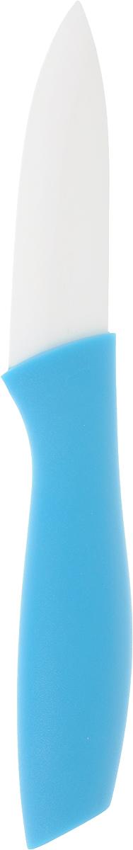 Нож Доляна Мастер, керамический, цвет: голубой, длина лезвия 7,5 см. 833159833159_голубойУдобный керамический нож Доляна Мастер станет отличным подспорьем в готовке для каждого увлеченного повара.Преимущества:- Керамический нож удобен и легок в использовании;- Нож легко моется, требует минимального ухода;- Удобная ручка из пластика предохраняет руки от усталости.Правила ухода:перед первым применением нож необходимо тщательно промыть в горячей воде с добавлением чистящего средства;производите чистку ножа после каждого использования;не используйте абразивные моющие средства и металлические губки;перед тем, как убрать нож на хранение, обязательно протрите его сухим полотенцем.Длина лезвия: 7,5 см.Общая длина ножа: 17 см.