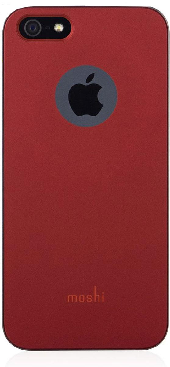 Moshi iGlazeчехол дляiPhone SE/5/5S, Burgundy Red99MO061321;99MO061321iGlaze - основная линейка защитных чехлов Moshi. Представляет собой изящный и стильный чехол, защищающий ваш iPhone, сохраняя его оригинальный внешний вид. Все кнопки устройства легко доступны, также, как и управление камерой гаджета, когда он располагается в чехле. Все чехлы нашей линейки оснащены специальным покрытием, обеспечивающим прекрасный внешний вид.Сверхтонкий чехол, идеально подходящий к iPhone.Покрытие повышенной надёжности, гарантирующее дополнительную защиту от царапин.Разработан и протестирован для обеспечения максимальной функциональности вспышки; никаких бликов на фото при испольщовании вспышки.Все кнопки iPhone легко доступны при нахождении гаджета в чехле.