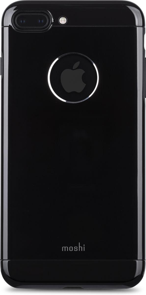 Moshi Armour чехол для iPhone 7 Plus, Jet Black99MO090007Элегантный чехол Moshi Armour выполнен из алюминия с алмазной огранкой. Он станет прекрасной защитой для Вашего iPhone 7 Plus. Красивый на вид и приятный на ощупь, он только подчеркнет все достоинства и преимущества дизайна iPhone. Завышенные края чехла обеспечивают безопасность экрана, когда iPhone лежит дисплеем вниз. Чехол повторяет все линии iPhone 7 Plus в своей особой манере, при этом защищая заднюю часть корпуса и его боковые грани.Алюминий премиум класса с алмазной обработкой.Основной каркас чехла состоит из поликарбоната, который защищает находящийся внутри телефон от ударов и повреждений.Полная защита кнопок регулировки громкости и питания.Завышенные края чехла обеспечивают безопасность экрана, когда iPhone лежит дисплеем вниз.??????Обеспечивает защиту от падения согласно оборонным стандартам США (MIL-STD-810G, SGS-certified).