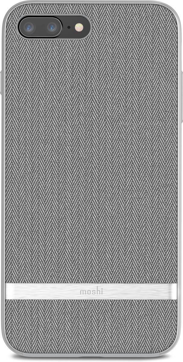 Moshi Vesta чехол для iPhone 8 Plus, Herringbone Gray99MO090011Moshi Vesta создан с использованием саржи и металлизированной рамки, чтобы прекрасно сочетать винтажный вид с современной изысканностью. Чехол обеспечивает противоударную защиту, соответствующую оборонным стандартам и имеет приподнятые края, которые защищают экран iPhone, когда он лежит экраном вниз. Поверхность обработана покрытием TriClear, которое противостоит воде, грязи и царапинам, чтобы ваш чехол сохранял свой блеск на протяжении долгого времени.