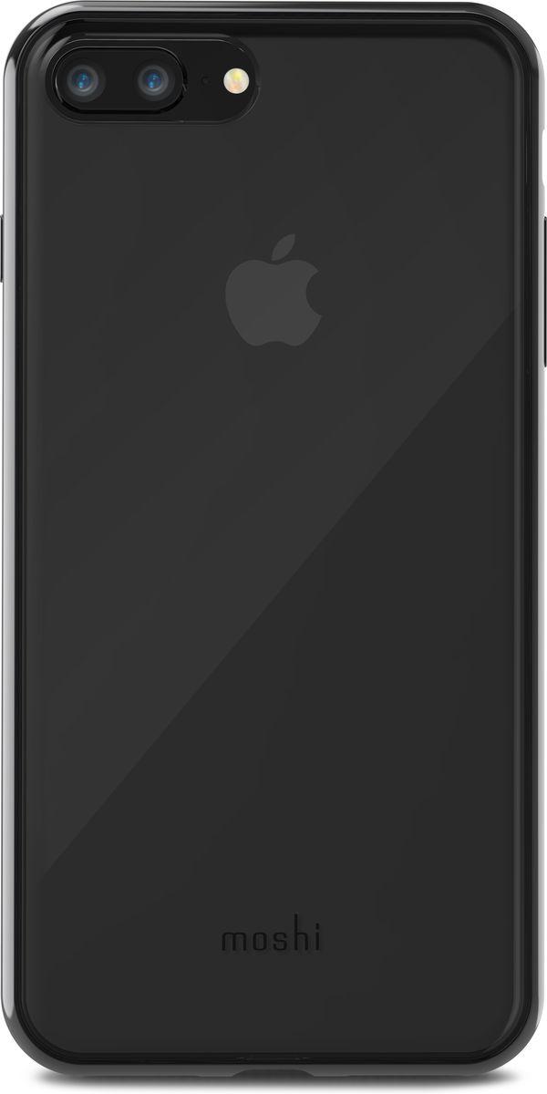 Moshi Vitros чехол для iPhone 8 Plus/7 Plus, Clear Black99MO103033Moshi Vitros это тонкий ударопрочный прозрачный чехол в минималистском стиле. Амортизирующая рамка чехла создана с использованием запатентованного процесса испарения металлов, для создания глянцевой поверхности, которая является одновременно стильной и защитной. Стильный Vitros защищает ваш iPhone от царапин и ударов, а также поддерживает беспроводную зарядку вашего устройства. Созданный из полимера, этот чехол прошел тестирования на сопротивление истиранию, нагреву и изгибу, таким образом, ваш чехол сохранит свой блеск на протяжении долгого времени. Приподнятые края защищают экран iPhone, когда он лежит экраном вниз, а также сохранен свободный доступ ко всем кнопкам, портам и камере.