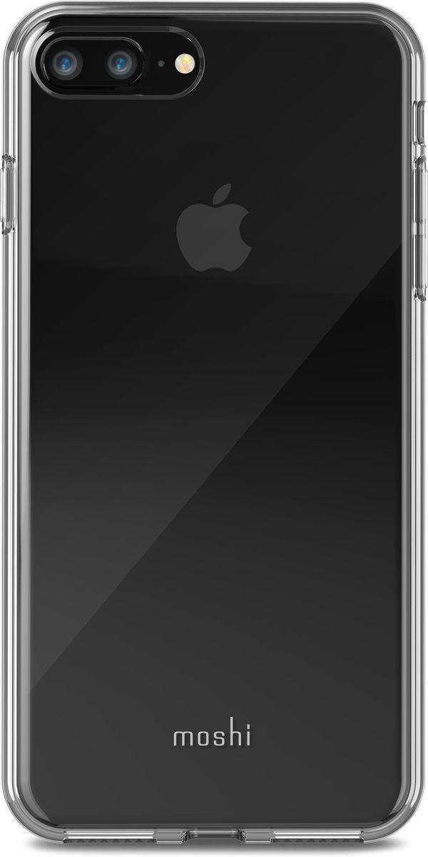 Moshi Vitros чехол для iPhone 8 Plus/7 Plus, Clear99MO103903Moshi Vitros это тонкий ударопрочный прозрачный чехол в минималистском стиле. Амортизирующая рамка чехла создана с использованием запатентованного процесса испарения металлов, для создания глянцевой поверхности, которая является одновременно стильной и защитной. Стильный Vitros защищает ваш iPhone от царапин и ударов, а также поддерживает беспроводную зарядку вашего устройства. Созданный из полимера, этот чехол прошел тестирования на сопротивление истиранию, нагреву и изгибу, таким образом, ваш чехол сохранит свой блеск на протяжении долгого времени. Приподнятые края защищают экран iPhone, когда он лежит экраном вниз, а также сохранен свободный доступ ко всем кнопкам, портам и камере.