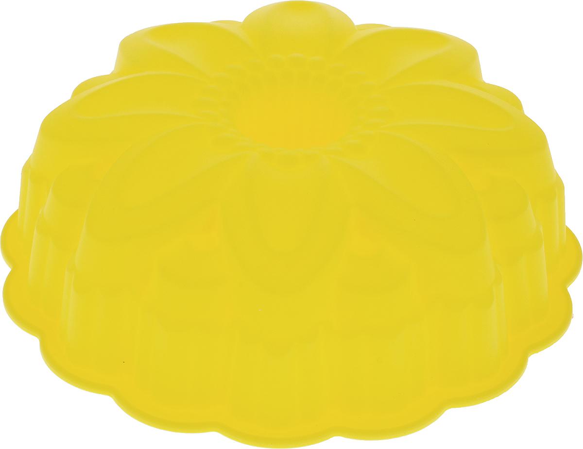 Форма для выпечки Доляна Немецкий кекс. Цветок, цвет: желтый, 22,5 х 7 см123148_желтыйФорма для выпечки из силикона - современное решение для практичных и радушных хозяек. Оригинальный предмет позволяет готовить в духовке любимые блюда из мяса, рыбы, птицы и овощей, а также вкуснейшую выпечку.Особенности:блюдо сохраняет нужную форму и легко отделяется от стенок после приготовления;высокая термостойкость (от -40 до +250 °C) позволяет применять форму в духовых шкафах и морозильных камерах;небольшая масса делает эксплуатацию предмета простой даже для хрупкой женщины;силикон пригоден для посудомоечных машин;высокопрочный материал делает форму долговечным инструментом;при хранении предмет занимает мало места.Советы по использованию формы:Перед первым применением промойте предмет тёплой водой.В процессе приготовления используйте кухонный инструмент из дерева, пластика или силикона.Перед извлечением блюда из силиконовой формы дайте ему немного остыть, осторожно отогните края предмета.Готовьте с удовольствием!