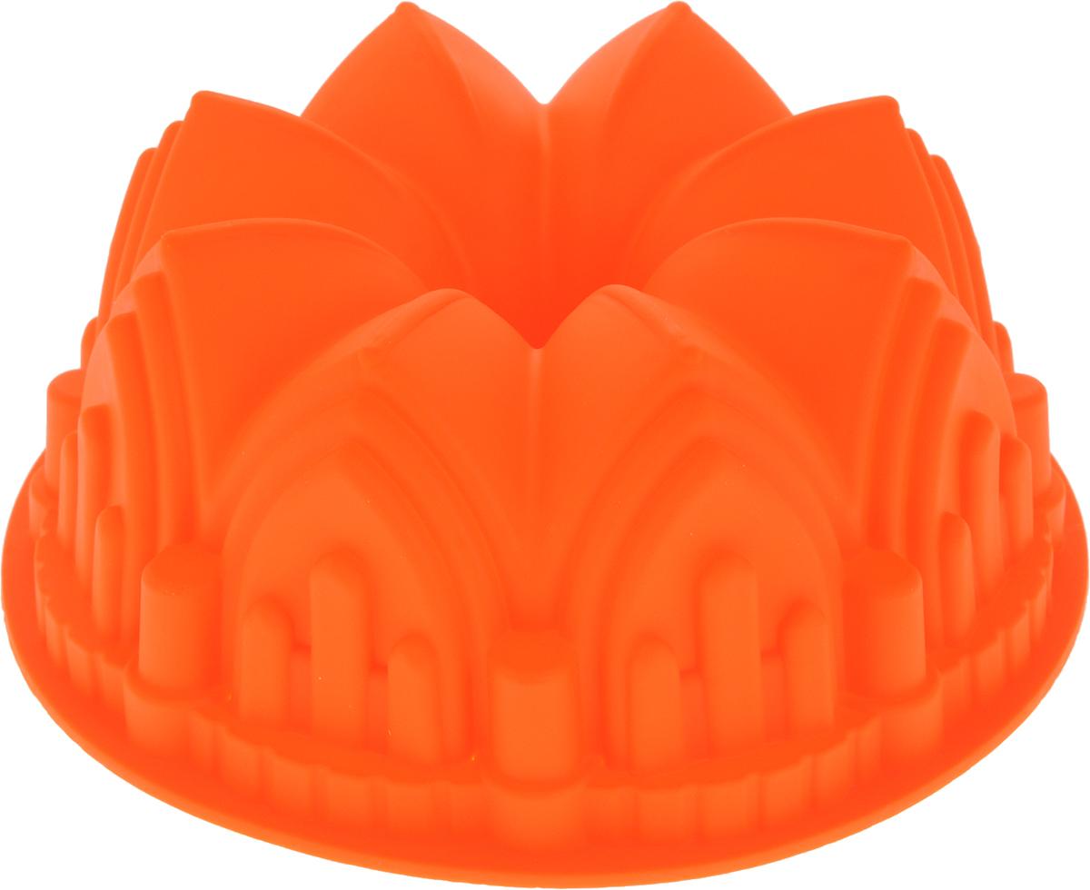 Форма для выпечки Доляна Немецкий кекс. Замок, цвет: оранжевый, 22 х 8 см661943-оранжевыйФорма для выпечки из силикона - современное решение для практичных ирадушных хозяек. Оригинальный предмет позволяет готовить в духовкелюбимые блюда из мяса, рыбы, птицы и овощей, а также вкуснейшую выпечку. Особенности: блюдо сохраняет нужную форму и легко отделяется от стенок послеприготовления; высокая термостойкость (от -40 до +250 °C) позволяет применять форму вдуховых шкафах и морозильных камерах; небольшая масса делает эксплуатацию предмета простой даже для хрупкойженщины; силикон пригоден для посудомоечных машин; высокопрочный материал делает форму долговечным инструментом; при хранении предмет занимает мало места. Советы по использованию формы: Перед первым применением промойте предмет тёплой водой. В процессе приготовления используйте кухонный инструмент из дерева,пластика или силикона. Перед извлечением блюда из силиконовой формы дайте ему немного остыть,осторожно отогните края предмета. Готовьте с удовольствием!