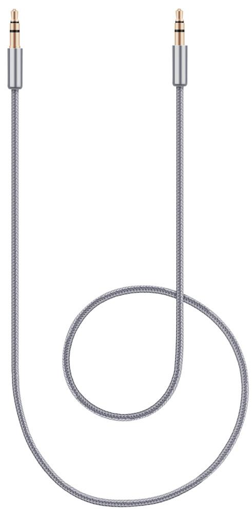 Rombica Digital JB-01, Gray аудио-кабель 3,5 мм (1 м)CB-JB01Аудио-кабель Rombica Digital JB-02 предназначен для передачи аналоговых стереозвуковых сигналов между аудио, аудио-видео и (или) компьютерными устройствами или их компонентами. Вы можете подключить компьютер (ноутбук), MP3-плеер, или смартфон, к например гарнитуре, активным акустическим системам и прочей мультимедийной технике.