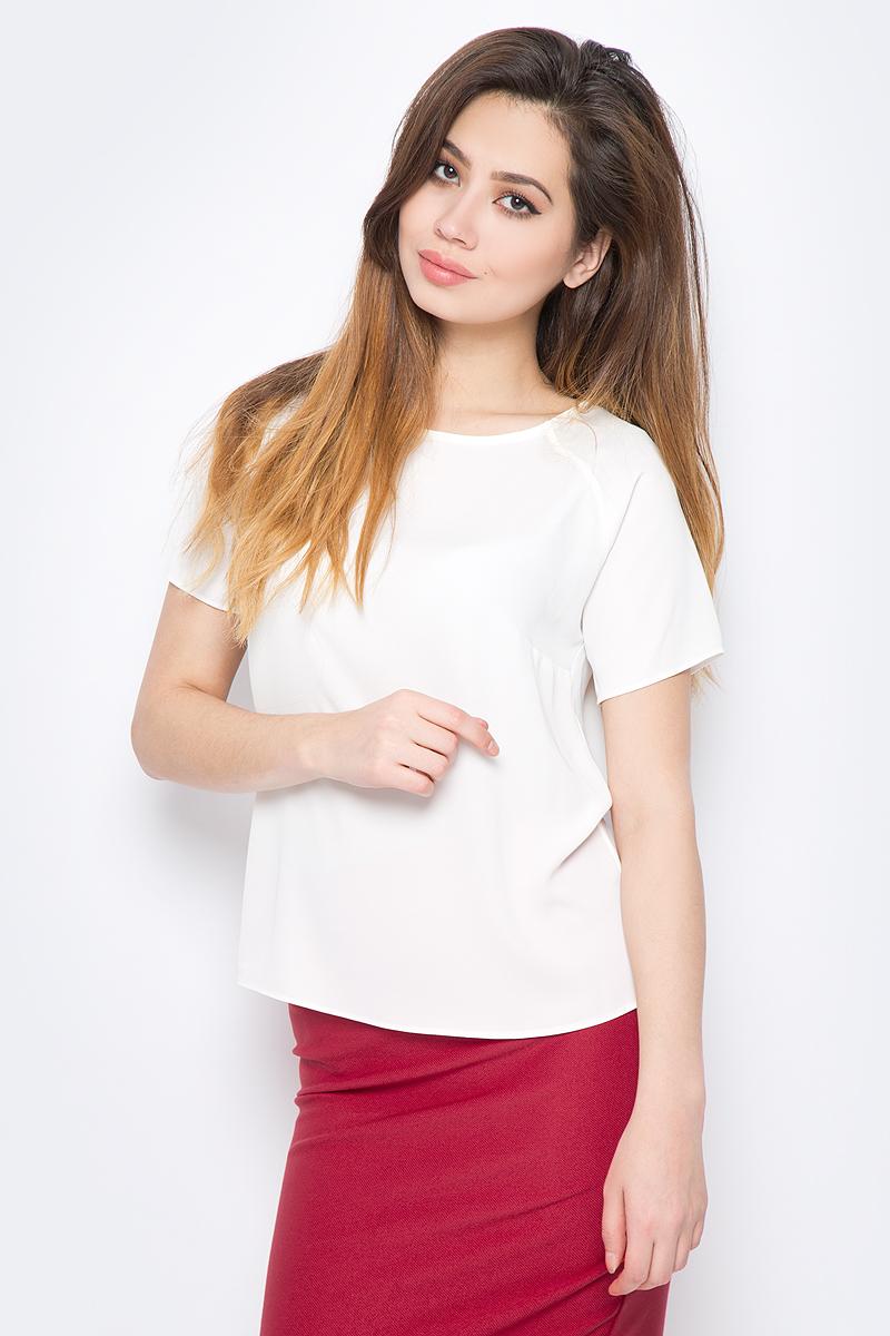 Блузка женская adL, цвет: кремовый. 11524788011_019. Размер M (44/46)11524788011_019Стильная блузка от adL выполнена из высококачественного материала. Модель свободного кроя с короткими рукавами-реглан и круглым вырезом горловины.