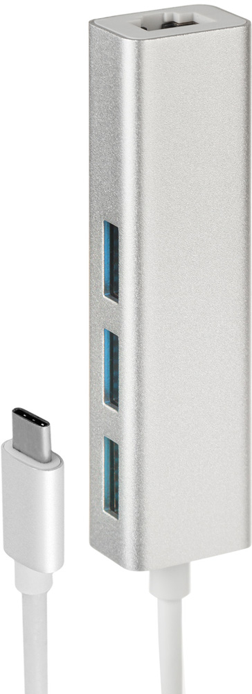Rombica Type-C Hub, Black USB-концентратор orico aluminum usb type c male to micro 2 0 cable female charge data adapter for nokia n1 tablet macbook pc
