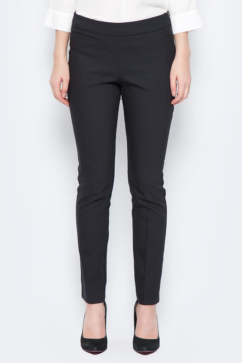 Брюки женские adL, цвет: черный. 15318418015_001. Размер L (46/48)15318418015_001Стильные женские брюки adL изготовлены из качественного материала. Модель зауженного кроя со стандартной посадкой выполнена в лаконичном стиле. Застегиваются брюки по боковому шву на застежку-молнию.