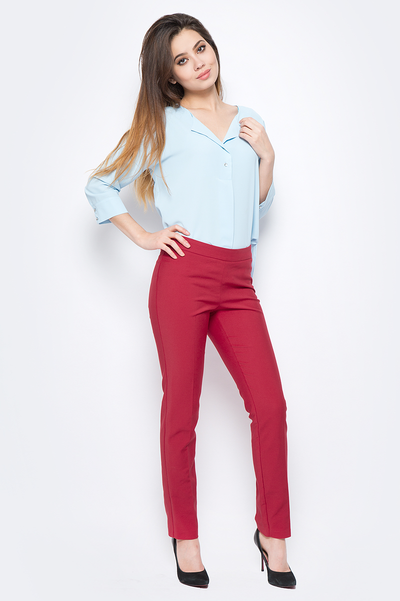 Брюки женские adL, цвет: красный. 15318418015_006. Размер XS (40/42)15318418015_006
