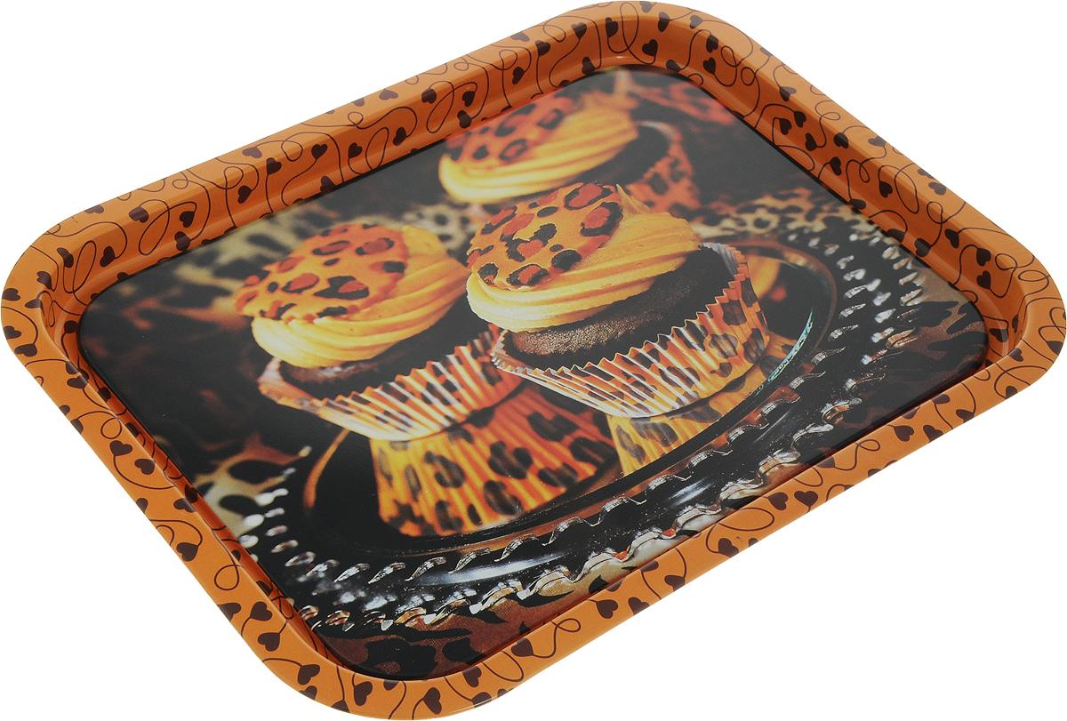 Поднос Рязанская фабрика жестяной упаковки Сладости. Кексы, 32,5 х 25,5 см олег ольхов сладости на вашем столе кексы варенья пастилы