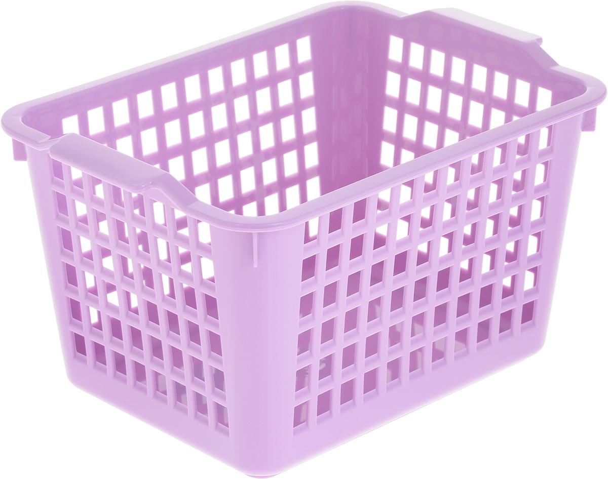 Корзинка универсальная Econova, цвет: сиреневый, 21 х 14,6 х 11,3 см718340_сиреневыйУниверсальная корзинка Econova изготовлена из высококачественного пластика с перфорированными стенками и сплошным дном. Такая корзинка непременно пригодится в быту, в ней можно хранить кухонные принадлежности, специи, аксессуары для ванной и другие бытовые предметы.