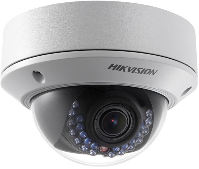 Hikvision DS-2CD2742FWD-IS камера видеонаблюдения3342084Мп уличная купольная IP-камера с ИК-подсветкой до 30м 1/3 Progressive Scan CMOS; вариообъектив 2.8-12мм; угол обзора 112°~33.8°; механический ИК-фильтр; 0.01лк@F1.2; сжатие H.264/MJPEG/H.264+; двойной поток; 2688?1520@20к/с, 1920?1080@25к/с; WDR 120дБ, 3D DNR, BLC, ROI; обнаружение движения, вторжения в область и пересечения линии; слот для microSD до 128Гб; аудиовход/выход 1/1; тревожные вход/выход 1/1; 1 RJ45 10M/100M Ethernet; DC12В± 25%/PoE(802.3af); 5.5Вт макс; -40 °C...+60 °C; IP67; IK10; вес 1кг.