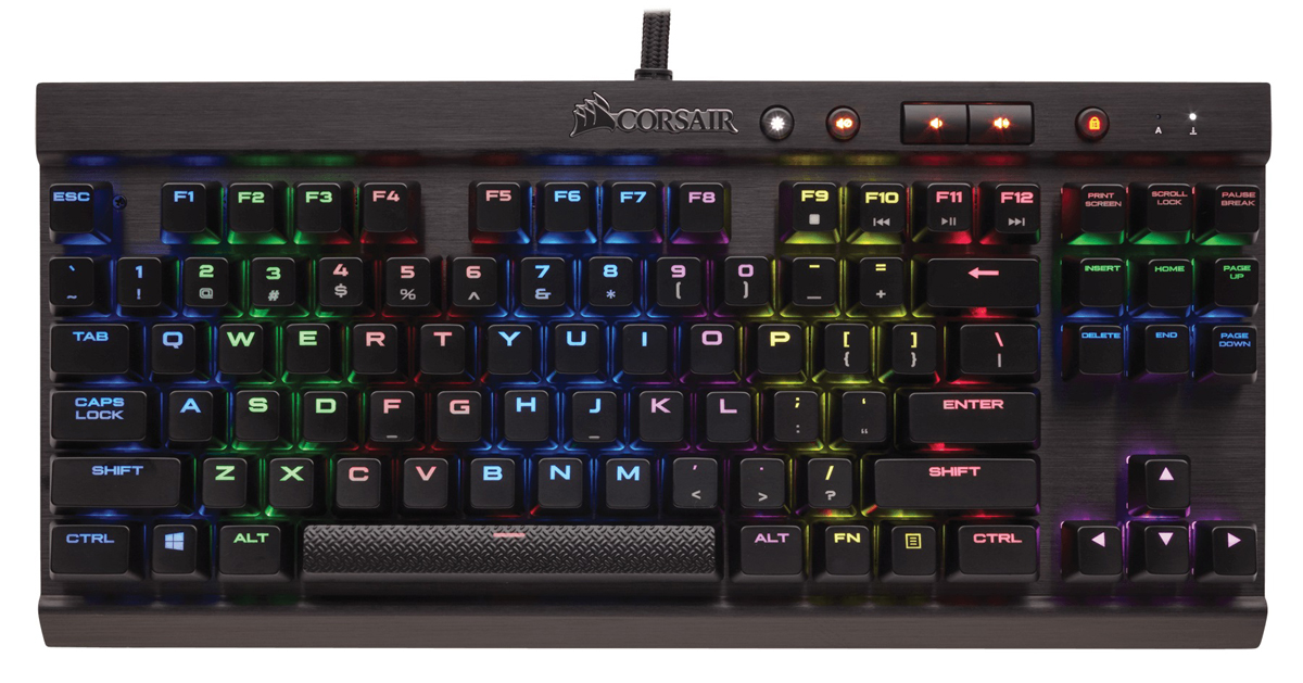 Corsair Gaming K65 RGB Rapidfire Cherry MX Speed игровая клавиатура клавиатура corsair gaming k70 rapidfire cherry mx speed black usb [ch 9101024 ru]