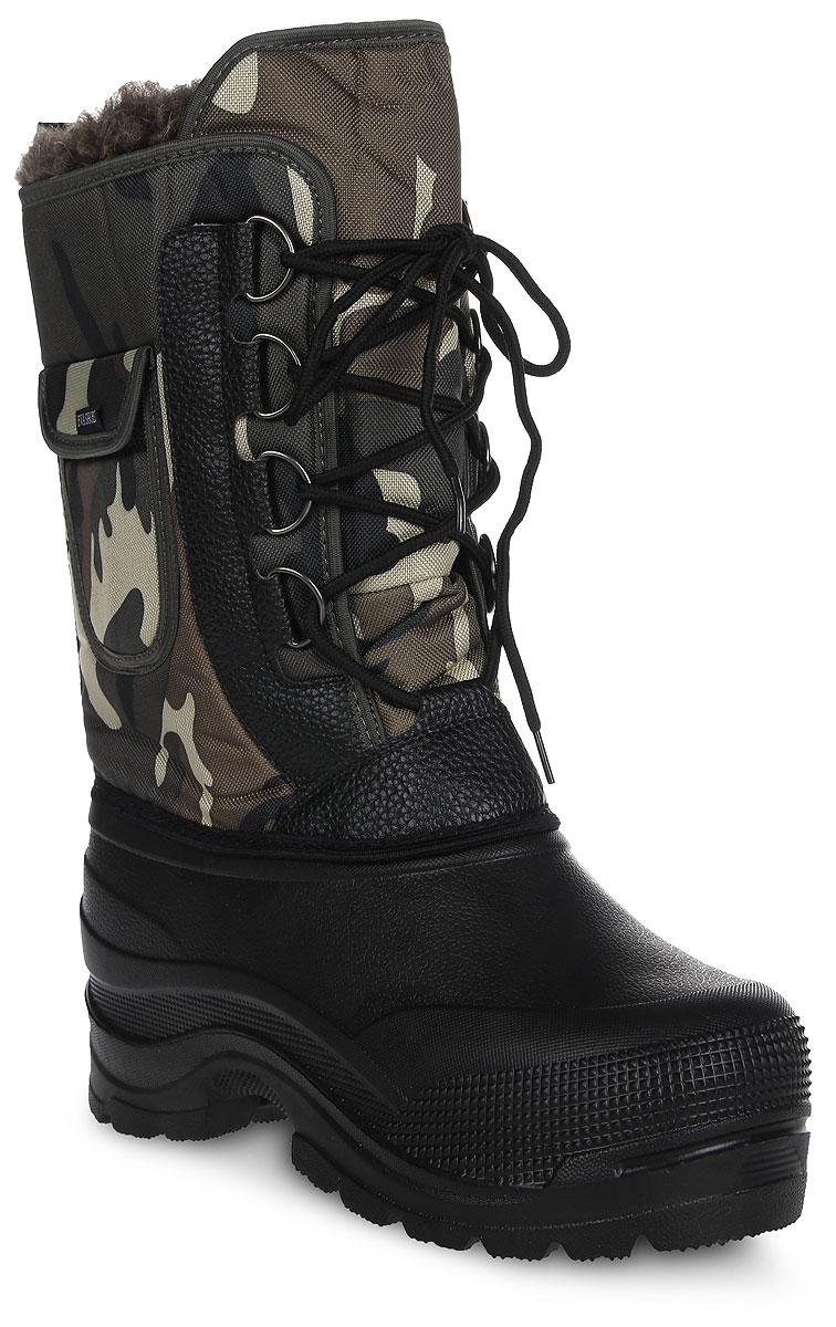 Сапоги зимние EVA Shoes Аляска (-40), цвет: черный, зеленый камуфляж. Размер 4359115_черный, зеленый камуфляжСапоги зимние EVA Shoes Аляска (-40), цвет: черный, зеленый камуфляж. Размер 43