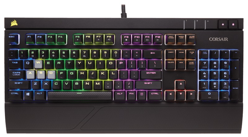 Corsair Gaming Strafe RGB Cherry MX Red игровая клавиатура клавиатура corsair gaming k70 rapidfire cherry mx speed black usb [ch 9101024 ru]