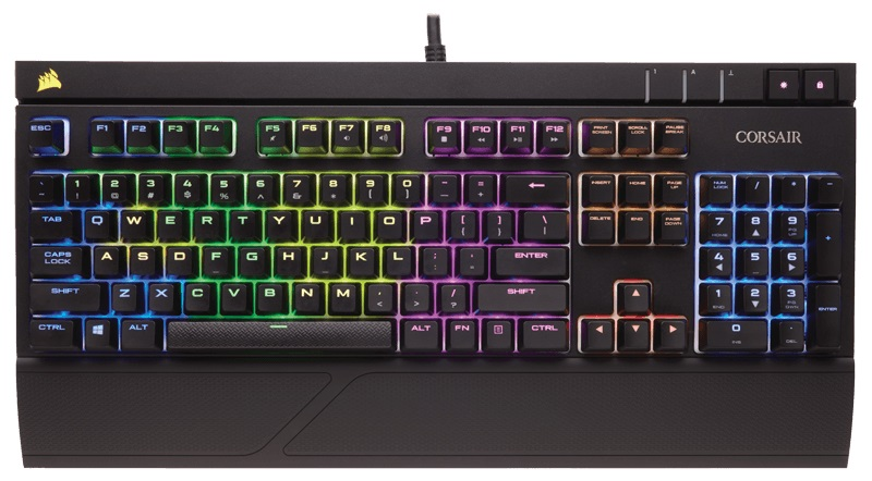Corsair Gaming Strafe RGB Cherry MX Silent игровая клавиатура клавиатура corsair gaming k70 rapidfire cherry mx speed black usb [ch 9101024 ru]