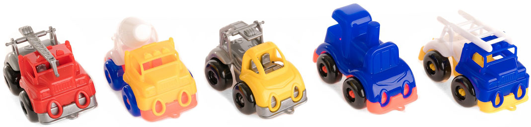Пластмастер Набор машинок Малютка набор машинок игрушечных пластмастер малютка 5