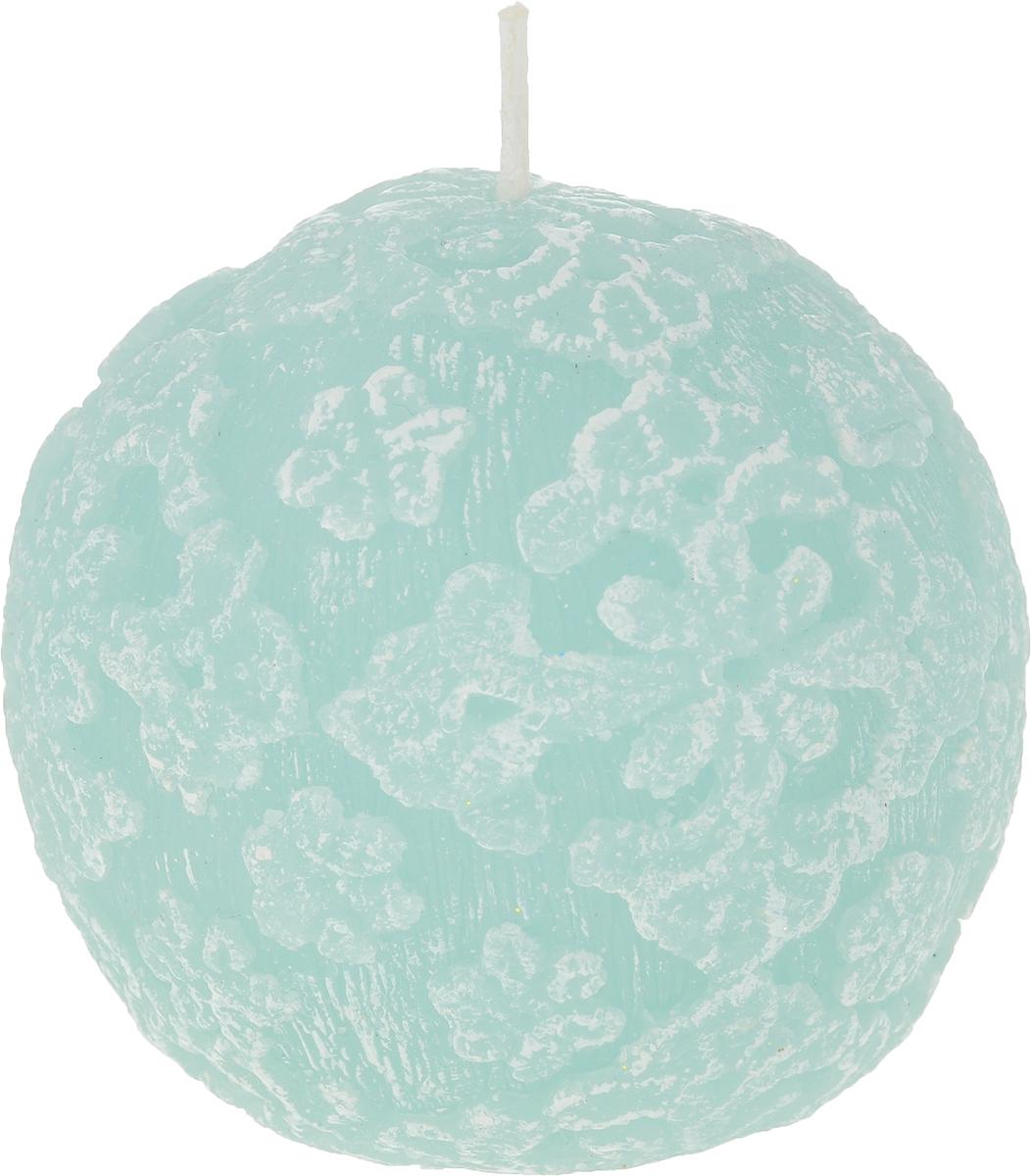 Свеча-шар B&H Цветочное кружево, цвет: бирюзовый, диаметр 7,5 смBH1043_бирюзовыйСвеча-шар Цветочное кружево изготовлена из парафина и декорирована изящным узором. Такая свеча станет изысканным украшением интерьера. Она принесет в ваш дом волшебство и ощущение праздника. Создайте в своем доме атмосферу веселья и радости, и тогда самый обычный день с легкостью превратится в торжество.