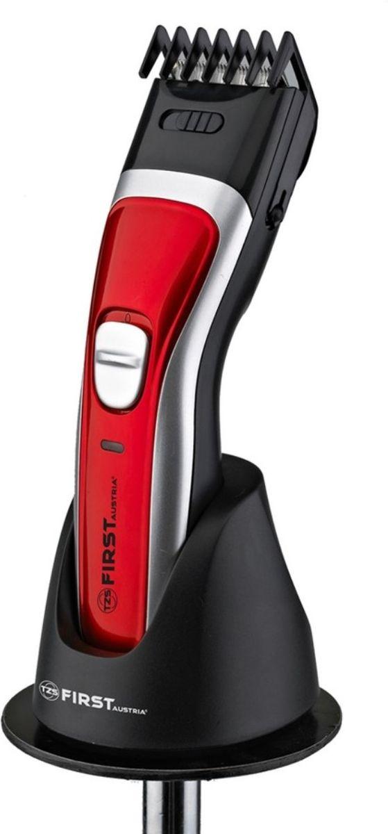 First 5676-3, Black Red машинка для стрижкиFA-5676-3 Black/RedТип: Аккумуляторная Мощность 3 Вт Встроенная батарея 2x600 mA Ni-MH Лезвие из нержавеющей стали 9 установок регулировки длинны стрижки: 4/5.5/7/8.5/10/11.5/13/14.5/16 мм Функция филировки волос Адаптер-подставка для зарядки Индикатор заряда Аксессуары: расческа, масленка, щетка для чистки, сетевой адаптер Уровень шума ? 61 дБ (A) Электропитание: DC 3В/600мA, AC 220-240 В50/60Гц