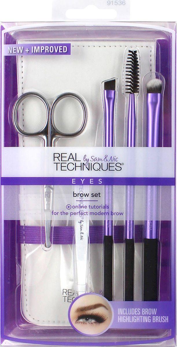 Real Techniques Набор для бровей Brow set кисть для коррекции бровей eye brow brush seventeen
