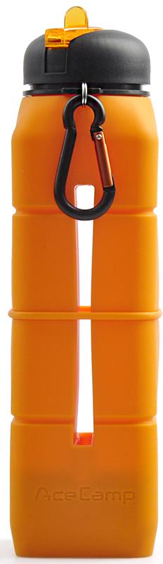 Бутылка-динамик AceCamp Sound Bottle, силиконовая, цвет: оранжевый, 769 мл1580Бутылка-динамик из пищевого силикона Sound Bottle - Orange на 769 мл от AceCamp GmbH, в цвете - Оранжевый. В первую очередь, это питьевая бутылка с открывающимся носиком для питья, который позволяет открыть бутылку одной рукой. Носик для питья в закрытом виде сливается с крышкой бутылки, что в свою очередь защищает его от загрязнения во время пробежки и занятий спортом, а так же при падениях бутылки. Так же, в бутылке имеется гнездо для вашего смартфона, а у основания дна акустическая конструкция, которая при включении и выводе музыки на динамик служит вашему смартфону как акустический динамик, который усиливает звук и делает его более объёмным. Эта идея оптимально подойдёт, тем кто в ходе пробежки или занятий спортом не приемлет наушники, которые то и дело выпадают. Сама силиконовая основа при этом, служит защитой вашего смартфона во время занятий спортом, пробежек и т.д., от случайных падений. Если напиток в бутылке закончился, силиконовый материал позволит вам свернуть бутылку буквально в трубочку или сделать плоской, что позволит сэкономить пространство в рюкзаке или сумке для удобства транспортировки.Горло бутылки широкое, что позволит с лёгкостью наливать напитки и мыть бутылку при необходимости.Вес: 291 гРазмеры: 27 х 7 х 7 смОбъём: 769 мл.Состав: Silicone + PP + PSНе содержит BPAAceCamp - куда бы вы ни шли!