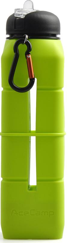 Бутылка-динамик AceCamp SoundBottle, силиконовая, цвет: светло-зеленый, 769 мл1581Бутылка-динамик из пищевого силикона Sound Bottle - LightGreen на 769 мл от AceCamp GmbH, в цвете - Светло-зелёный. В первую очередь, это питьевая бутылка с открывающимся носиком для питья, который позволяет открыть бутылку одной рукой. Носик для питья в закрытом виде сливается с крышкой бутылки, что в свою очередь защищает его от загрязнения во время пробежки и занятий спортом, а так же при падениях бутылки. Так же, в бутылке имеется гнездо для вашего смартфона, а у основания дна акустическая конструкция, которая при включении и выводе музыки на динамик служит вашему смартфону как акустический динамик, который усиливает звук и делает его более объёмным. Эта идея оптимально подойдёт, тем кто в ходе пробежки или занятий спортом не приемлет наушники, которые то и дело выпадают. Сама силиконовая основа при этом, служит защитой вашего смартфона во время занятий спортом, пробежек и т.д., от случайных падений. Если напиток в бутылке закончился, силиконовый материал позволит вам свернуть бутылку буквально в трубочку или сделать плоской, что позволит сэкономить пространство в рюкзаке или сумке для удобства транспортировки.Горло бутылки широкое, что позволит с лёгкостью наливать напитки и мыть бутылку при необходимости.Вес: 291 гРазмеры: 27 х 7 х 7 смОбъём: 769 мл.Состав: Silicone + PP + PSНе содержит BPAAceCamp - куда бы вы ни шли!
