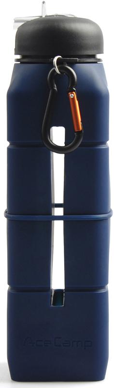 Бутылка-динамик AceCamp  SoundBottle , силиконовая, цвет: зеленый, 769 мл - Туристическая посуда