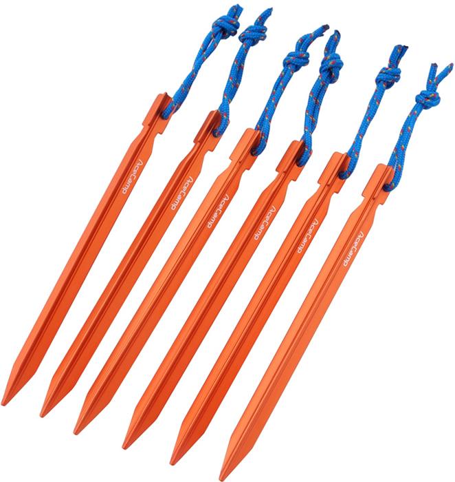 Набор колышков AceCamp AluminumYPeg, с петлями, цвет: оранжевый, 6 шт2720Набор колышков AceCamp AluminumYPeg выполнен с нейлоновыми петлями высокой прочности для легкого извлечения из грунта. Колышки предназначены для твердой и промерзлой земли.Y-образная форма не позволит прокручиваться колышкам в грунте.Материал: анодированный алюминий.Форма в сечении: Y.Длина: 180 мм.Вес одного колышка: 17 г.