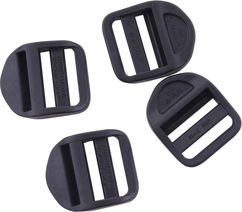 Набор пряжек AceCamp DuraflexLadderlock, регулирующие, цвет: черный, 25 мм, 4 шт