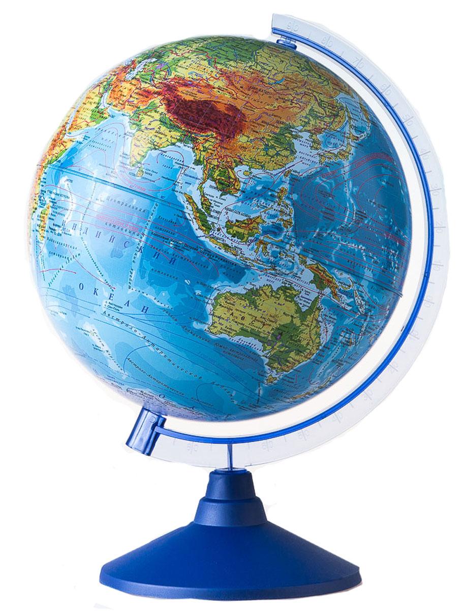 Globen Глобус Земли физико-политический с подсветкой диаметр 25 смВе012500257Глобус от компании Globen будет замечательным подарком вашему ребенку к любому празднику. Глобус является универсальным наглядным пособием и поможет заинтересовать ребенка изучением географии. Карта глобуса подробная и актуальная, на ней можно рассмотреть все страны мира, их взаимное расположения, океаны, моря, горы и другие интересные географические данные. А глобус с подсветкой от батареек послужит необычным ночником в детской комнате.Глобус - это мир в руках ваших детей! Актуальная карта. Крым в составе РФ. Подсветка глобуса осуществляется от двух пальчиковых батареек (Батарейки в комплект не входят). Система подсветки запатентована, права на нее охранятся законом.