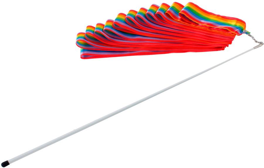 Лента гимнастическая  Larsen , цвет: мультиколор, длина 6 м. 148980 - Художественная гимнастика