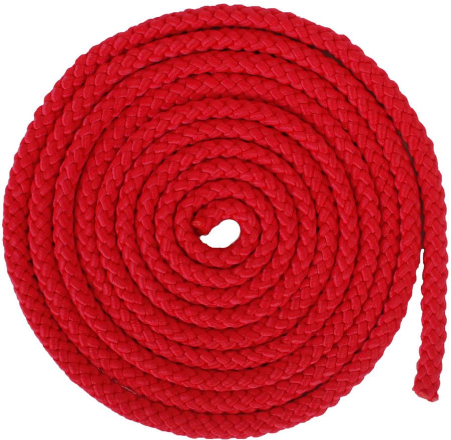 Скакалка гимнастическая Larsen, цвет: красный, длина 3 м скакалка скоростная proxima crossfit jr 7001 r red