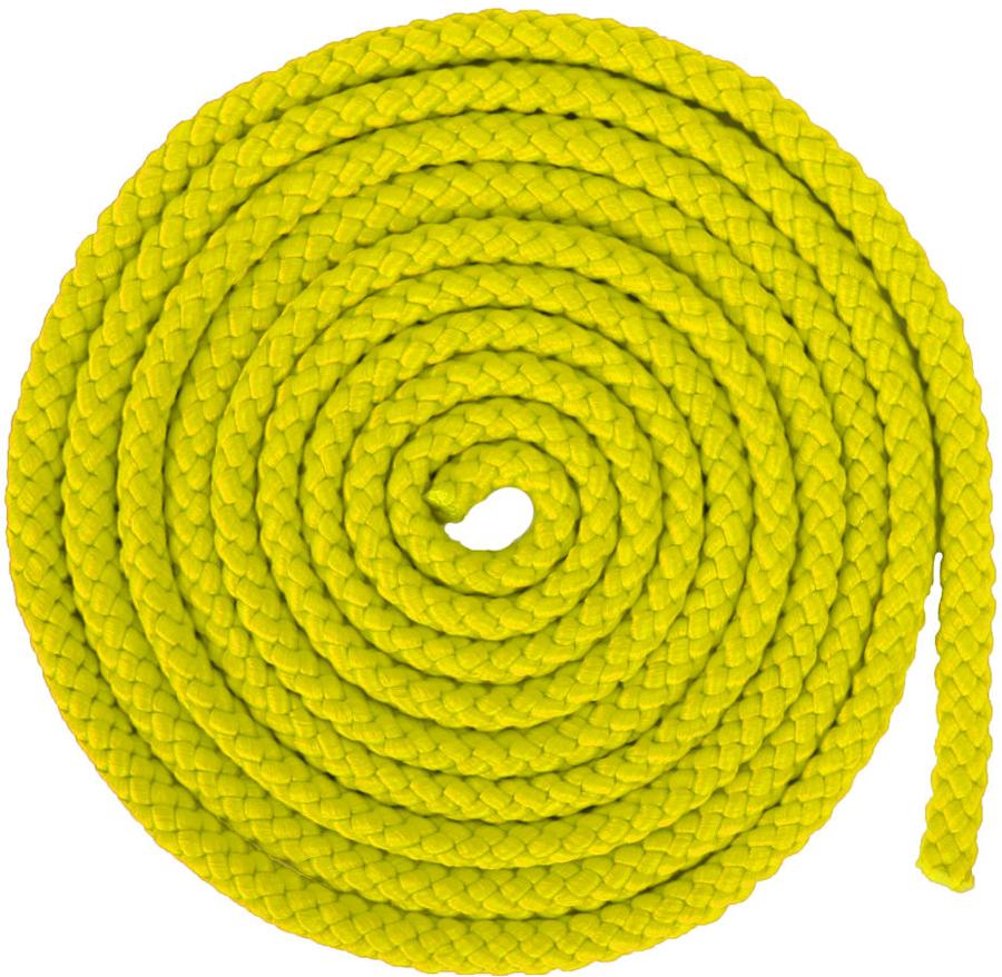 Скакалка гимнастическая Larsen, цвет: желтый, длина 3 м150518Скакалка - это один снарядов в арсенале художественной гимнастики. В качестве дополнительного элемента подготовки она включена в тренировочный процесс велосипедистов, футболистов и боксеров. Гимнастическая скакалка Larsen может быть использована как любителями, так и профессионалами. За небольшой промежуток времени она позволяет укрепить сердечно-сосудистую и дыхательную систему, а также добиться хороших результатов в спорте.