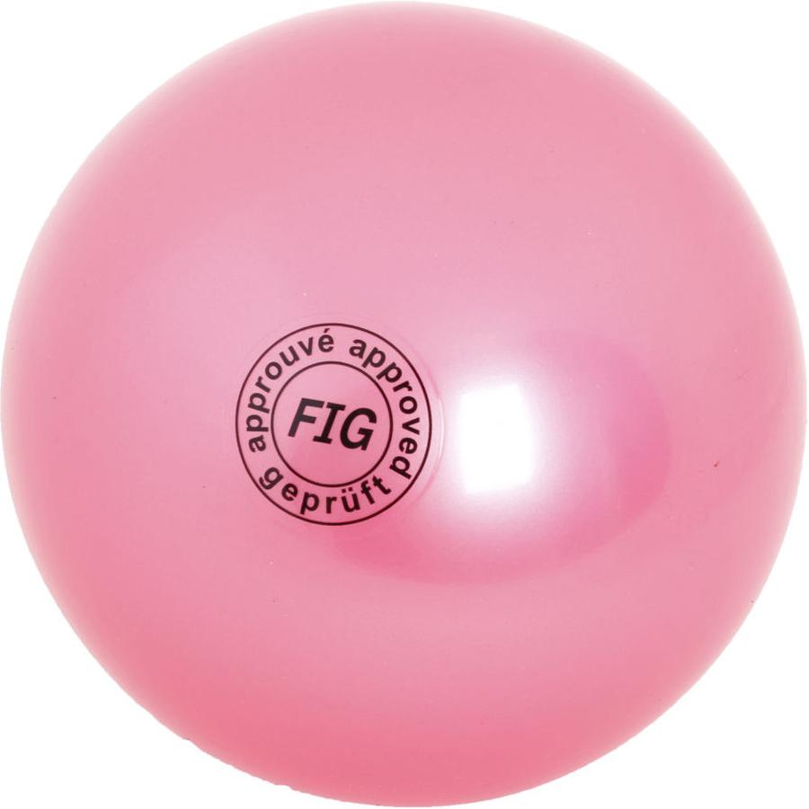 Мяч гимнастический Larsen, цвет: розовый, диаметр 19 см ортопедический мяч для гимнастики в курске
