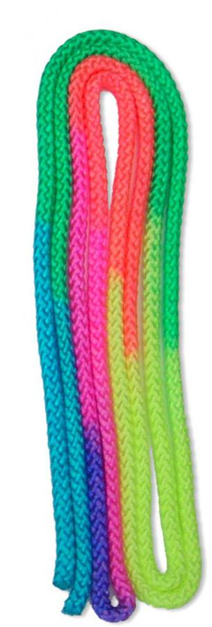 Скакалка гимнастическая Larsen, длина 3 м232635В качестве дополнительного элемента подготовки скакалка включена в тренировочный процесс велосипедистов, футболистов и боксеров. Также это один снарядов в арсенале художественной гимнастики. Гимнастическая скакалка Larsen выполнена в радужной расцветке и может быть использована как любителями, так и профессионалами. За небольшой промежуток времени она позволяет укрепить сердечно-сосудистую и дыхательную систему, а также добиться хороших результатов в спорте.