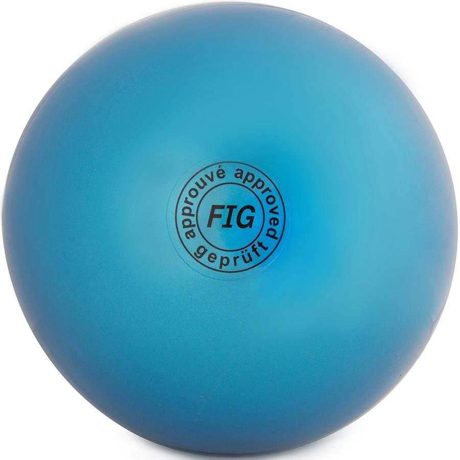 Мяч гимнастический  Larsen , цвет: синий, диаметр 15 см - Художественная гимнастика
