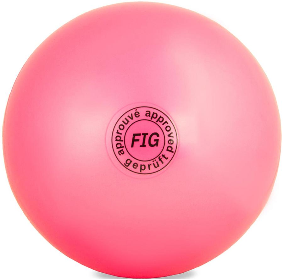 Мяч гимнастический  Larsen , цвет: розовый, диаметр 15 см - Художественная гимнастика