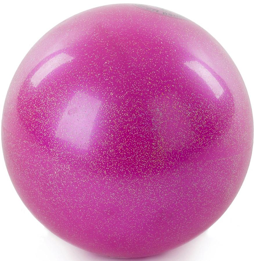 Мяч гимнастический Larsen, цвет: розовый, диаметр 15 см