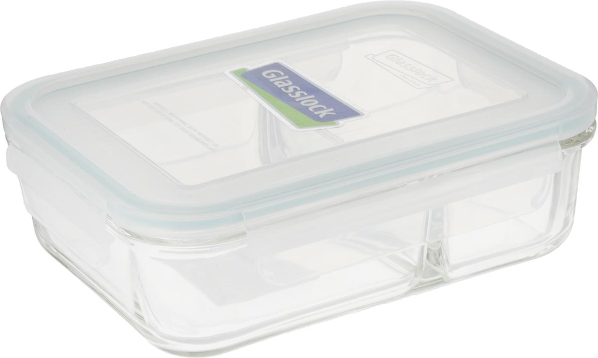Контейнер Glasslock, прямоугольный, цвет: прозрачный, 920 млMCRK-092Контейнер для хранения Glasslock изготовлен из высококачественного закаленного ударопрочного стекла. Герметичная крышка, выполненная из пластика и снабженная уплотнительной резинкой, надежно закрывается с помощью четырех защелок. Подходит для мытья в посудомоечной машине, хранения в холодильных и морозильных камерах, использования в микроволновых печах. Внутри предусмотрено два отделения.Стеклянная посуда нового поколения от Glasslock экологична, не содержит токсичных и ядовитых материалов; превосходная герметичность позволяет сохранять свежесть продуктов; покрытие не впитывает запах продуктов; имеет утонченный европейский дизайн - прекрасное украшение стола.Размер контейнера (по верхнему краю): 18 х 13 см.Высота контейнера (с учетом крышки): 6 см.