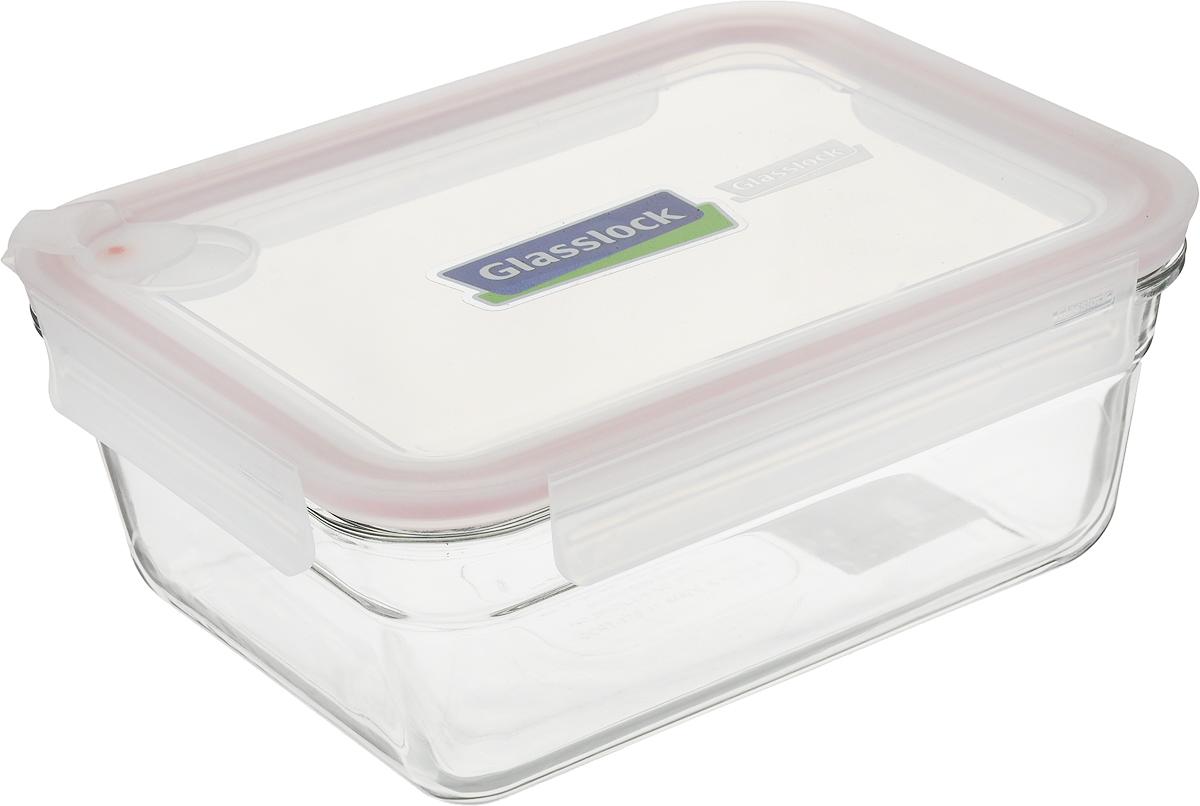 Контейнер Glasslock, прямоугольный, цвет: прозрачный, 1,73 л контейнер для еды glasslock gl 532